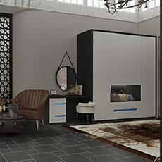 Contemporary bedroom wardrobe